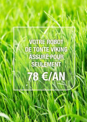 assurez, robot de tonte, matériel, pelouse, viking, assureur, calvados